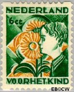Nederland NL R96  1932 Kinderen en bloemen 6+4 cent  Gestempeld
