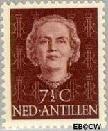 Nederlandse Antillen NA 219  1954 Type 'En Face'  7½ cent  Gestempeld