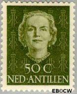 Nederlandse Antillen NA 229  1950 Type 'En Face' 50 cent  Gestempeld