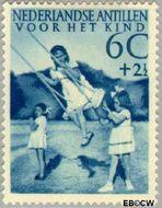 Nederlandse Antillen NA 236  1951 Kinderspelen  7½+2½ cent  Postfris