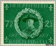 Nederlandse Antillen NA 259  1957 Padvinderij 7½+2½ cent  Gestempeld