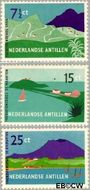 Nederlandse Antillen NA 262#264  1957 Toerisme  cent  Gestempeld