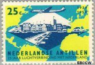 Nederlandse Antillen NA 309  1959 Luchtverbinding Nederland 25 cent  Gestempeld