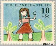 Nederlandse Antillen NA 340  1963 Kindertekeningen 10+5 cent  Gestempeld
