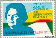 Nederlandse Antillen NA 420  1969 Koninkrijks Statuut 25 cent  Gestempeld