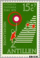 Nederlandse Antillen NA 470  1973 Veilig verkeer 15+7 cent  Gestempeld
