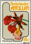 Nederlandse Antillen NA 580  1978 Bloemen 15 cent  Gestempeld