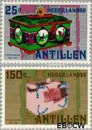 Nederlandse Antillen NA 652#653  1980 Postspaarbank  cent  Postfris