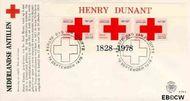 Nederlandse Antillen NA E114a  1978 Dunant, Henry 60 cent  FDC zonder adres