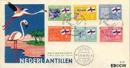 Nederlandse Antillen NA E37  1965 Eilanden 25+11 cent  FDC zonder adres