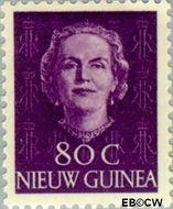 Nieuw-Guinea NG 18  1950 Type 'En Face' 80 cent  Gestempeld