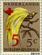 Nieuw-Guinea NG 38  1956 Paradijsvogel 5+5 cent  Gestempeld