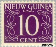 Nieuw-Guinea NG 8  1950 Type 'van Krimpen' 10 cent  Gestempeld