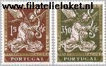 POR 915#916 Postfris 1962 Aardsengel Gabriel