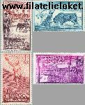 SPA 1163#1166 Postfris 1960 Stierenvechten
