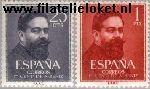 SPA 1215#1216 Postfris 1960 Albéniz, Isaac