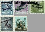 SPA 1296#1300 Postfris 1961 Luchtvaart