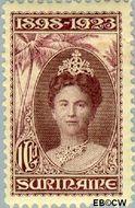 Suriname SU 108  1923 Regeringsjubileum Wilhelmina 1898-1923 100 cent  Gestempeld