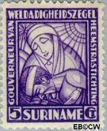 Suriname SU 139  1928 Van Heemstra stichting 5+3 cent  Gestempeld
