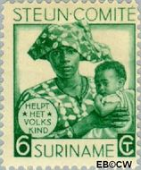 Suriname SU 149  1931 Steuncomité 6+4 cent  Gestempeld