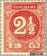 Suriname SU 18  1890 Drukwerkzegel 2½ cent  Gestempeld