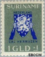Suriname SU 199  1941 Vrij Nederland 100+100 cent  Gestempeld
