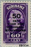 Suriname SU 219  1945 Steunfonds 60+50 cent  Gestempeld
