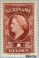 Suriname SU 239  1945 Koningin Wilhelmina 100 cent  Gestempeld