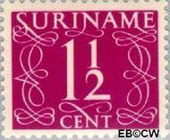 Suriname SU 250  1948 Cijferzegels 1½ cent  Gestempeld
