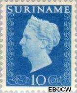 Suriname SU 260  1948 Koningin Wilhelmina 10 cent  Gestempeld