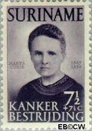 Suriname SU 280  1950 Kankerbestrijding 7½+7½ cent  Gestempeld