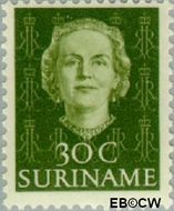 Suriname SU 290  1951 Type 'En Profile' 30 cent  Gestempeld