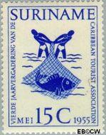 Suriname SU 320  1955 Vergadering Caribbean Tourist Association 15 cent  Gestempeld