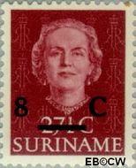 Suriname SU 330  1958 Hulpuitgifte 8 op 27½ cent  Gestempeld