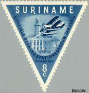 Suriname SU 340  1960 Opening luchthaven Zanderij 8 cent  Gestempeld