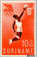 Suriname SU 350  1960 Olympisch Comité 10+5 cent  Gestempeld
