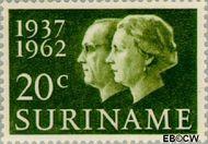 Suriname SU 378  1962 Huwelijksjubileum Juliana en Bernhard 20 cent  Gestempeld