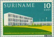 Suriname SU 388  1962 Opening ziekenhuis 10 cent  Gestempeld