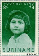 Suriname SU 398  1963 Surinaamse kinderen 8+3 cent  Gestempeld
