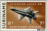 Suriname SU 408  1964 Stichting Lucht- en Ruimtevaart 15+7 cent  Gestempeld