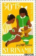 Suriname SU 488  1967 Kinderspelen 30+15 cent  Gestempeld