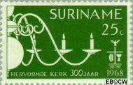 Suriname SU 498  1968 Hervormde Kerk te Paramaribo 25 cent  Gestempeld