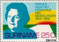 Suriname SU 528  1969 Statuut voor het Koninkrijk 25 cent  Gestempeld