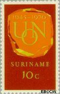 Suriname SU 538  1970 U.N.O. 10 cent  Gestempeld