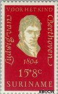 Suriname SU 548  1970 Componisten 15+8 cent  Gestempeld