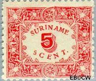 Suriname SU 58  1909 Hulpuitgifte 5 cent  Gestempeld