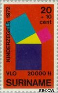 Suriname SU 588  1972 Onderwijs 20+10 cent  Gestempeld
