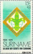 Suriname SU 628  1974 Padvinderij in Suriname 15+8 cent  Gestempeld