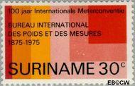 Suriname SU 648  1975 Meterconventie 1875 30 cent  Gestempeld