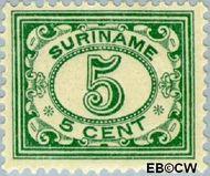 Suriname SU 78  1913 Drukwerkzegel 5 cent  Gestempeld